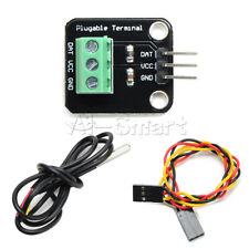 WaterProof DS18B20 Temperature Sensor Module Probe & Plugable Terminal Adapter