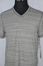 Rock & Republic Mens Large Gray Black Marbled V-Neck Short Sleeve T-Shirt NEW
