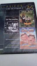 """DVD """"LAS MINAS DEL REY SALMONETE / LA VIA LACTEA / LOCOS DEL AIRE"""" PRECINTADO"""