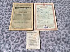 Trabant P 601 DDR-KFZ Brief, Versicherungsschein, KFZ Schein, VEB, Oldtimer