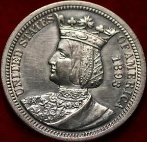 Uncirculated 1893 Isabella Commemorative Silver Quarter