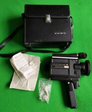 Vintage Elmo Super 8 Sound 350SL Camera, Bag, Microphone Tested & Working