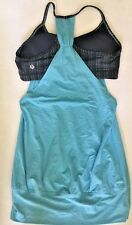 LULULEMON No Limits Tank Top Blue Moon Ziggy Wee August Inkwell size 6 EUC  Yoga