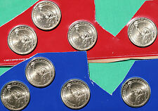 2010 Presidential Dollar UNC Coins 8 Satin P and D US Mint Set Blister Pack $1
