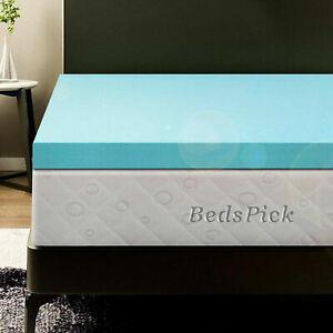 BedsPick 3 Inch Memory Foam Mattress Topper Full Soft Double Bed Foam Topper Gel