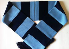 Sky/Navy Bar Rugby Scarves New from Superior Acrylic Yarns