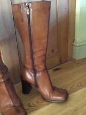 River Island Tan LeatherLong Boots 7 40