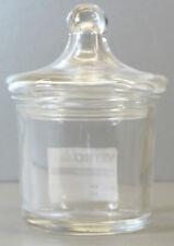 Glasdose aus Kristallglas - rund -  Höhe ca. 12,2cm - AE710