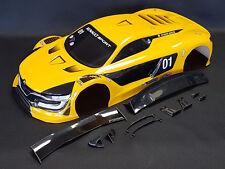 """RC CAR KAROSSERIE 1:10 """"RENAULT RS 01 GT"""" IN GELB 195MM BREIT # JLR23"""