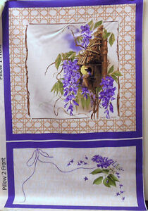 Marjolein Bastin PCMB001 Nature's Palette Pillow Panel Purple Fabric By Yard