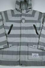 Crooks and Castles Mens Jacket Size L Striped Snowboard Streatwear Cotton 2002