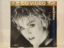 MADONNA: PAPA DON'T PREACH GOLD CDV - CD VIDEO! 1986 SIRE UK IMPORT! EX