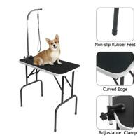 """New Adjustable 32"""" Foldable Pet Dog Cat Grooming Table with Adjustable Arm/Noose"""