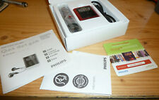 Philips GoGear Audio Player with Instructions New in Box - Red 8GB
