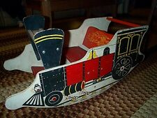 Vintage CHOO CHOO TRAIN ROCKING CHAIR child TOY Wood 1950's Antique Locomotive