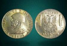 ALBANIA 1939 COIN - 2 LEK MAGNETIC - ITALY OCCUPATION - 123
