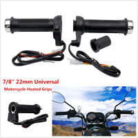 "12V Pair 22mm 7/8"" Motorcycle Handlebar Heating Electric Handle Heated Grips Kit"