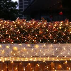 3*2M LED String Fairy Net Lights Outdoor Garden Window Christmas Decor Plug in