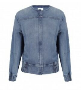 Morrison Atticus Denim Bomber Jacket - Size 4 - Brand New With Tags