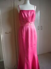 DAVE & JOHNNY DRESS SIZE 12 BEAUTIFUL BALLGOWN FORMAL BALLROOM DANCE CERISE PINK