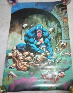 "Vintage 1995 Venom Poster 34.5"" x 22.5"" Marvel Comics"