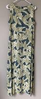 Tommy Bahama Green Floral Print Tank Style Sleeveless Maxi Dress Rayon Size 6