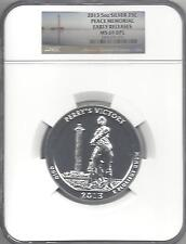 2013  Peace Memorial 5 oz Silver  MS 69 DPL  Early Releases NGC