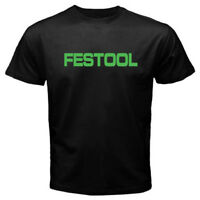 New Festool Tools Logo Men's Black T-Shirt Size S-3XL