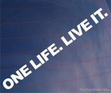 Una Vida. vivirla. Novedad Off Road 4wd/4x4 car/van/window Etiqueta-Tamaño Pequeño