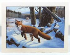 """A Winter Memory"" Notecards with Gorgeous Fox by Ron Louque"