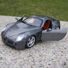 Alfa Romeo 8C 1:32 New Alloy Diecast Car Model Collection & Gift Gray