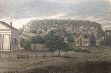 Original wood engraving hand colored 1839 John Warner Barber Northhampton,Mass