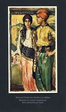 Son & Daughter German Art Print 1930 by Joseph Oppenheimer † Montreal costume a+