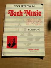 Noten. Applebaum. Bach Music Simple Style for Piano.