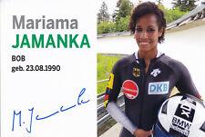 Mariama JAMANKA - Deutschland, Gold Olympia 2018 Bobsport, Original-Autogramm!