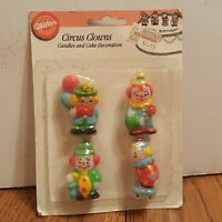 Vintage Wilton - Circus Clowns - Candles Cake Decoration 1992