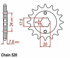 KR  Ritzel 14Z Teilung  520 HONDA CRM 125 R  90-99 New... front sprocket