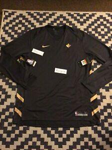 Nike NBA Toronto Raptors Team Warmup long Sleeve Shirt men's 2XL