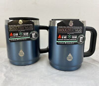 Pair Of Tal Boulder Vacuum Insulated Travel Mugs 14 Fl Oz Slate Blue Color New