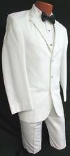 Men's White Perry Ellis 2 Piece Jacket & Pant Suit Halloween Costume Boss Hogg