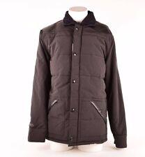 2016 MENS ETNIES WOODSMAN 2 JACKET $150 L black leather shoulders