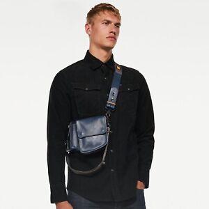 NWT G-Star Raw Double Body Handbag | Cloud Blue | 100% Buffalo Leather | Unisex