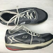 Skechers Shape Ups Men's 9.5 Tennis Shoes Toning Walking Gray Black Sneakers