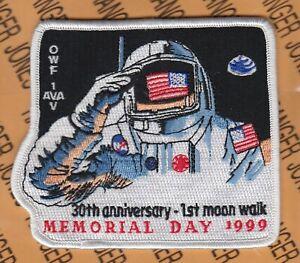 "NASA 30th Anniv 1st Moon Walk 1999 4.5"" flight suit pocket patch"