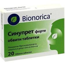 SINUPRET forte überzogene Tabletten 20 St PZN 268292
