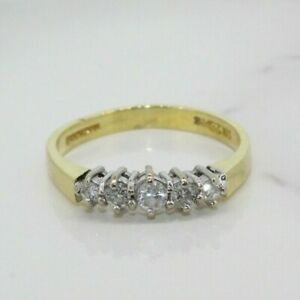 18ct Yellow Gold 0.25ct Diamond Eternity Ring (Size K 1/2, US 5 1/2)