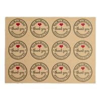 """5Pc Retro Runde Papier Etiketten """"Danke"""" Hand Made Sticker mit Liebe """"Han_S L4P7"""