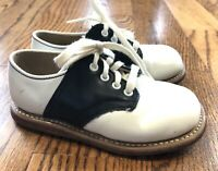 Stride Rite Classic Black White Saddle Oxford Toddler Shoes Size 5.5
