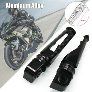 1 Pair of Aluminum Alloy Motorcycle Rear Foot Pedal Universal Modified Black