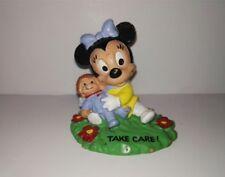 "Old figure Minnie Mouse 1987 ""TAKE CARE"" PVC BULLY RARE"